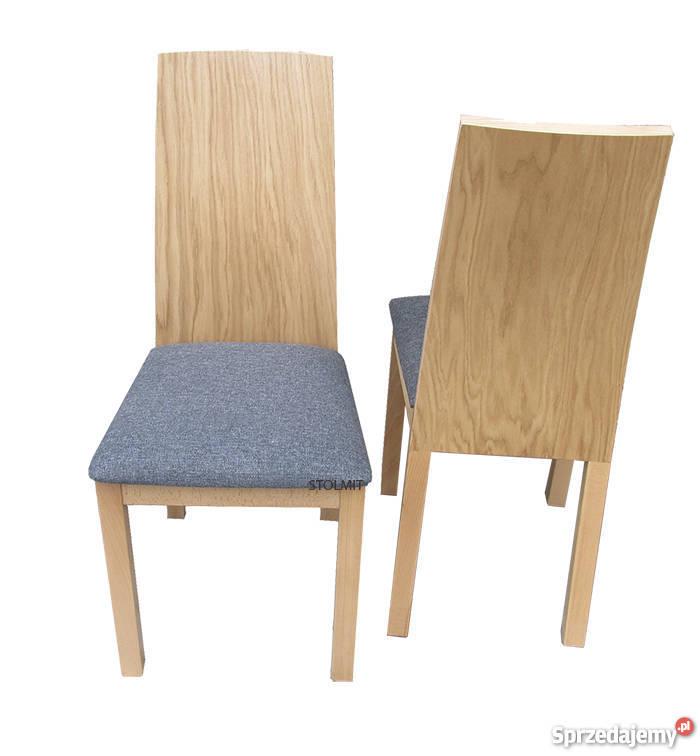 Bardzo eleganckie i efektowne krzesła milano dąb
