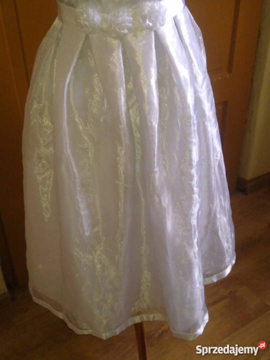 14de97aff8 Sukienka komunijna organza 140 cm Sosnowiec - Sprzedajemy.pl