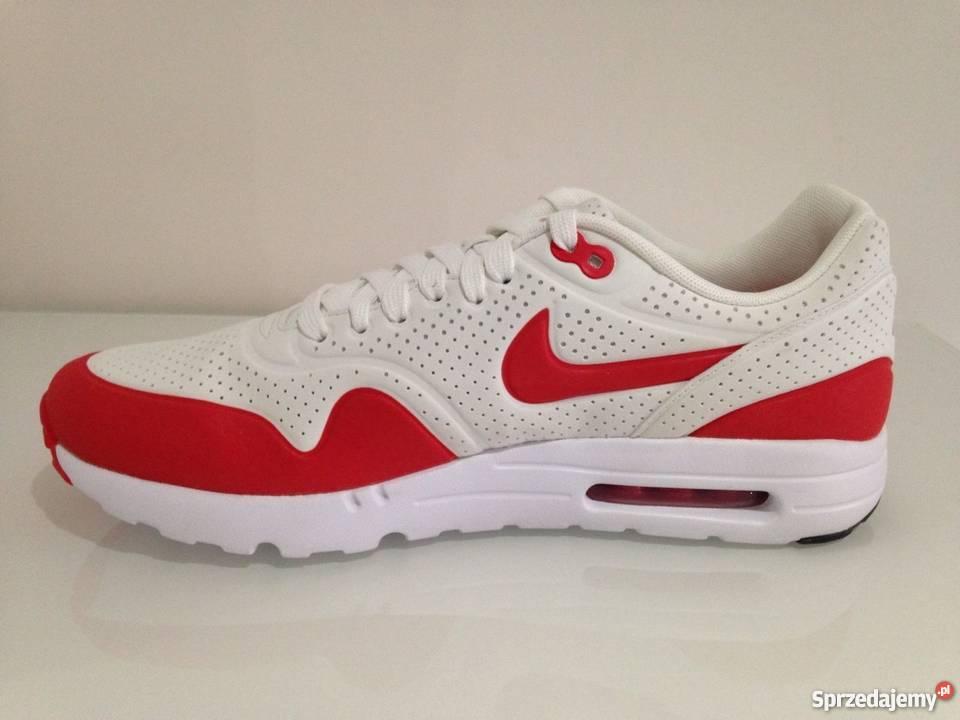 air max 1 czerwono białe
