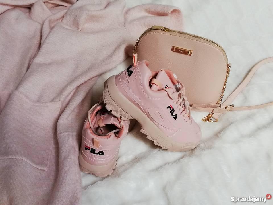 Adidasy buty fila 38 pudrowy roz
