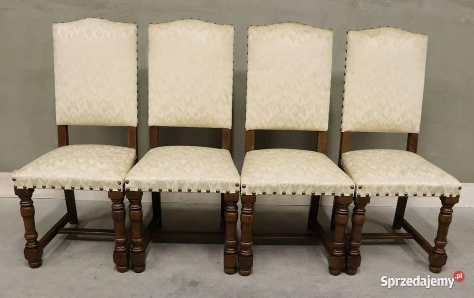 2747 krzesła z jasną tapicerką, kpl 4 szt