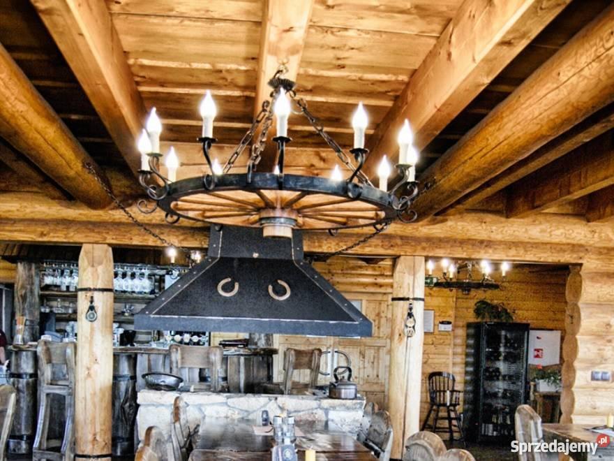 Duża Lampa Do Oświetlenia Altanu Odgrdowej Koło Od Wozu