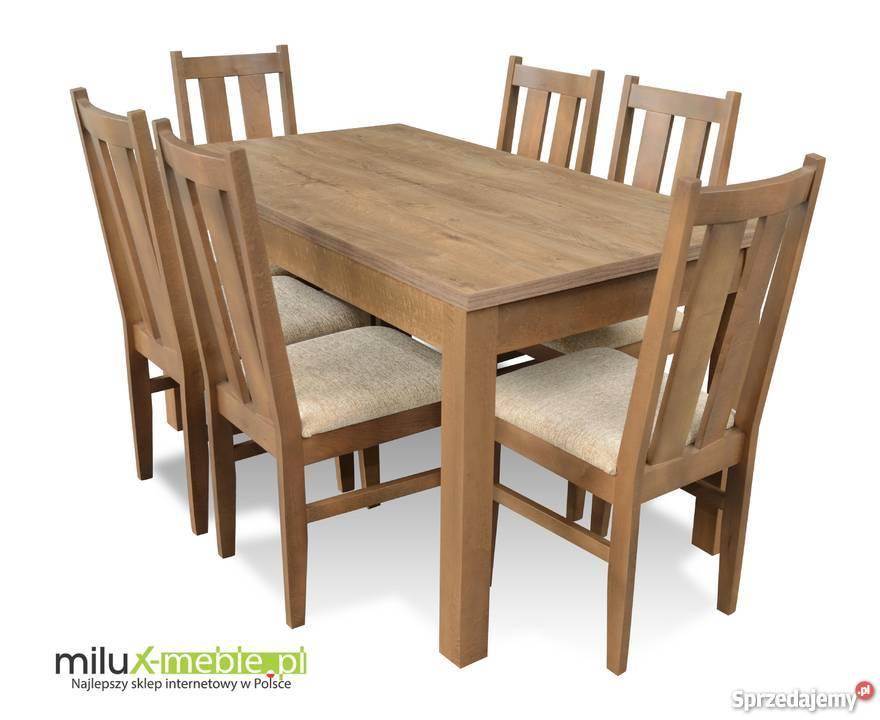komplety stół i krzesła dąb canyon