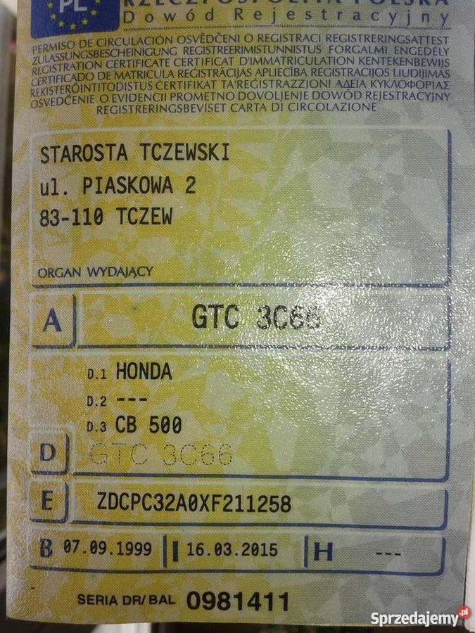 Honda CB 500 *DOINWESTOWANA* Dobrzyń nad Wisłą