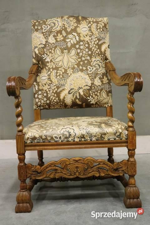 2129 piękny, rzeźbiony fotel