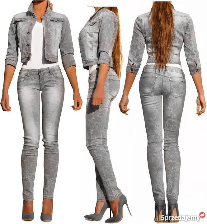 3ece8ec0 Spodnie Damskie Jeans Denim Dopasowane Rurki Kobiece #512