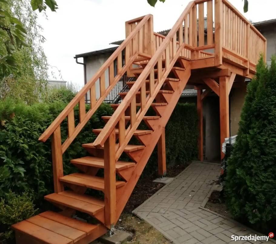 Schody Zewnętrzne Drewniane Tarasy