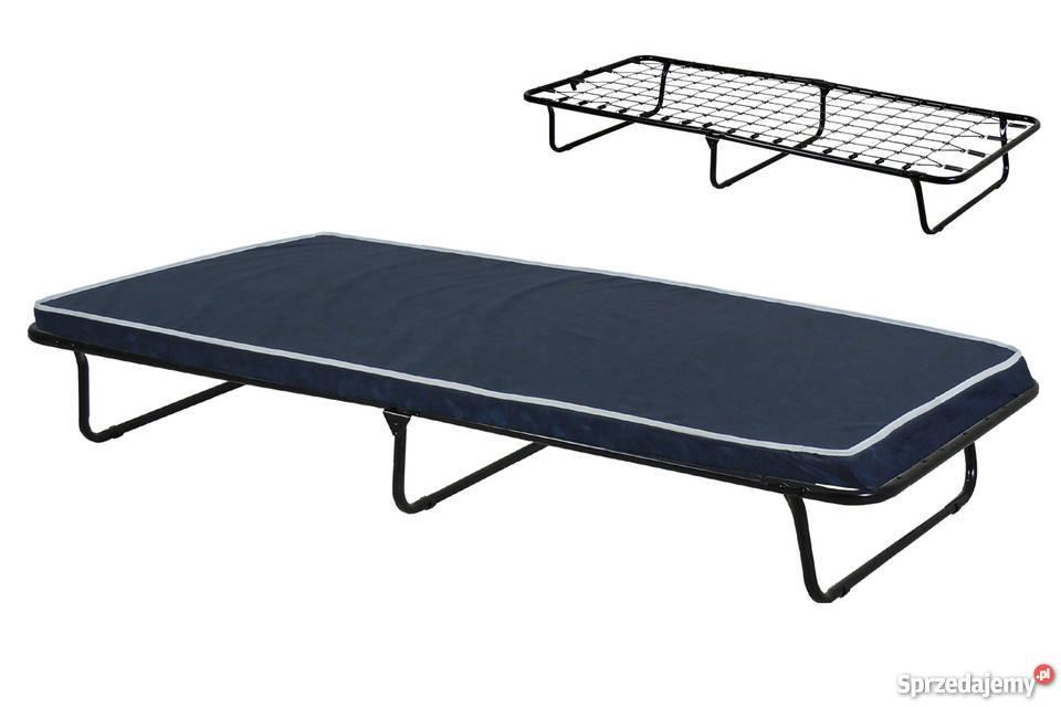 łóżko Składane Polowe Rodos Na Sprężynach Z Materacem 5cm