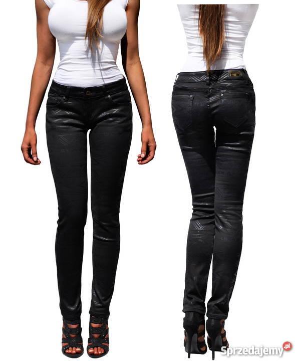 01ec99ff10f0c6 spodnie damskie czarne rurki - Sprzedajemy.pl