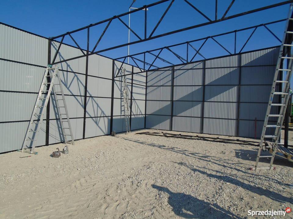 garaż blaszany wiata 16x8 garaże blaszane wiaty Limanowa