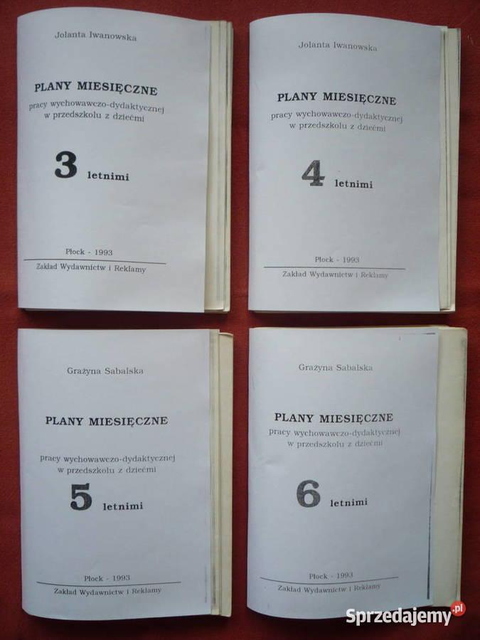 Plany miesięczne 3-latki, 5-latki, 6-latki Przedszkole