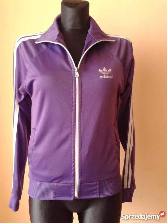 Bluza fioletowa Adidas z białym logo