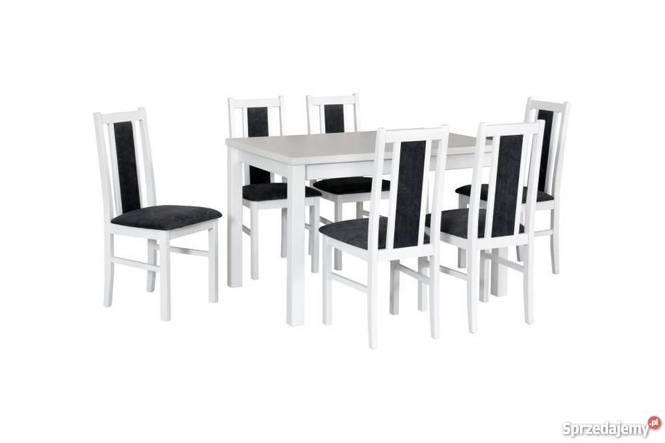 Biały Zestaw,Stół z 6 Krzesłami - Promocja!