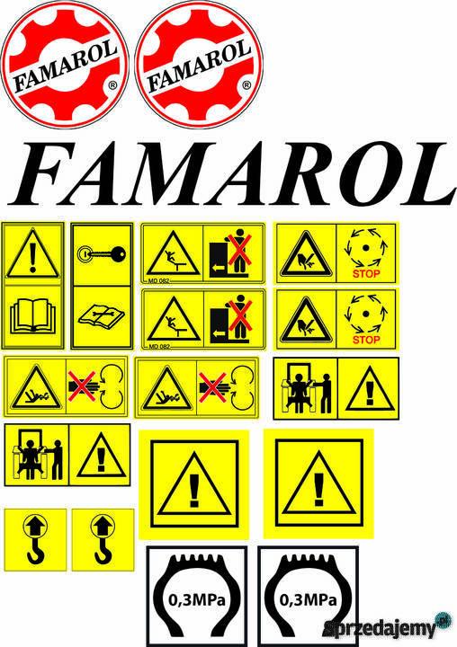 Poważnie Wszystkie naklejki na maszyny Naklejki piktogramy ostrzegawc OJ03