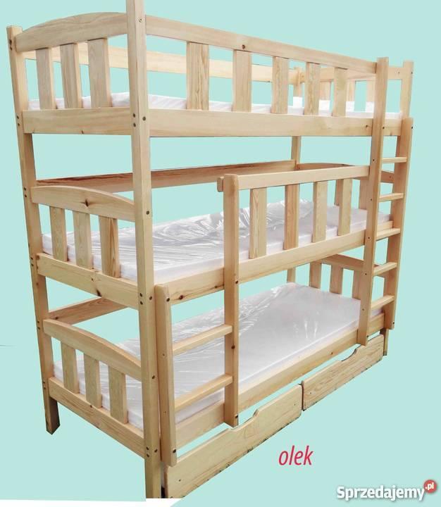 łóżko łóżka 3 Piętrowe Olek