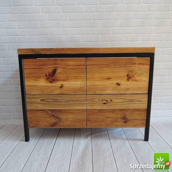 Nietypowe meble łazienkowe ze starego drewna