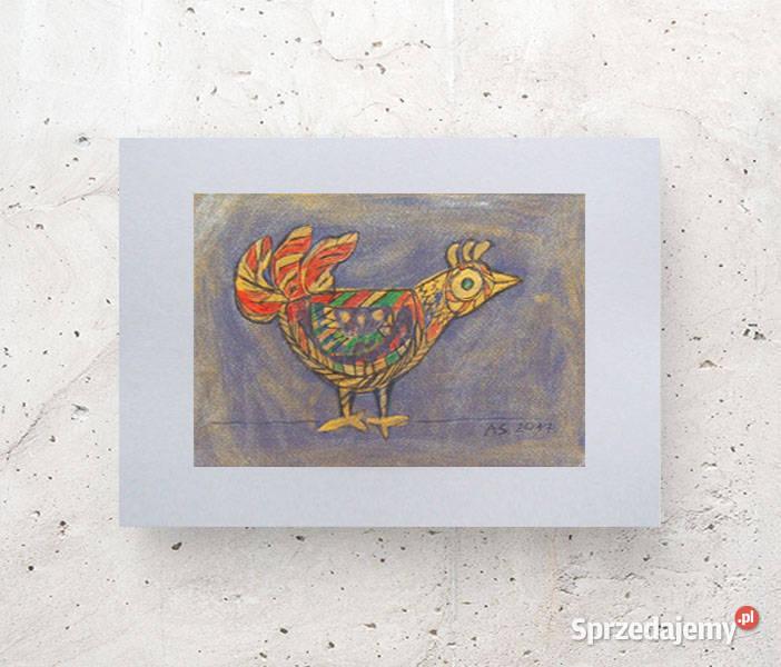 mały obrazek z ptaszkiem, ptaszek rysunek A4, ptak obraz