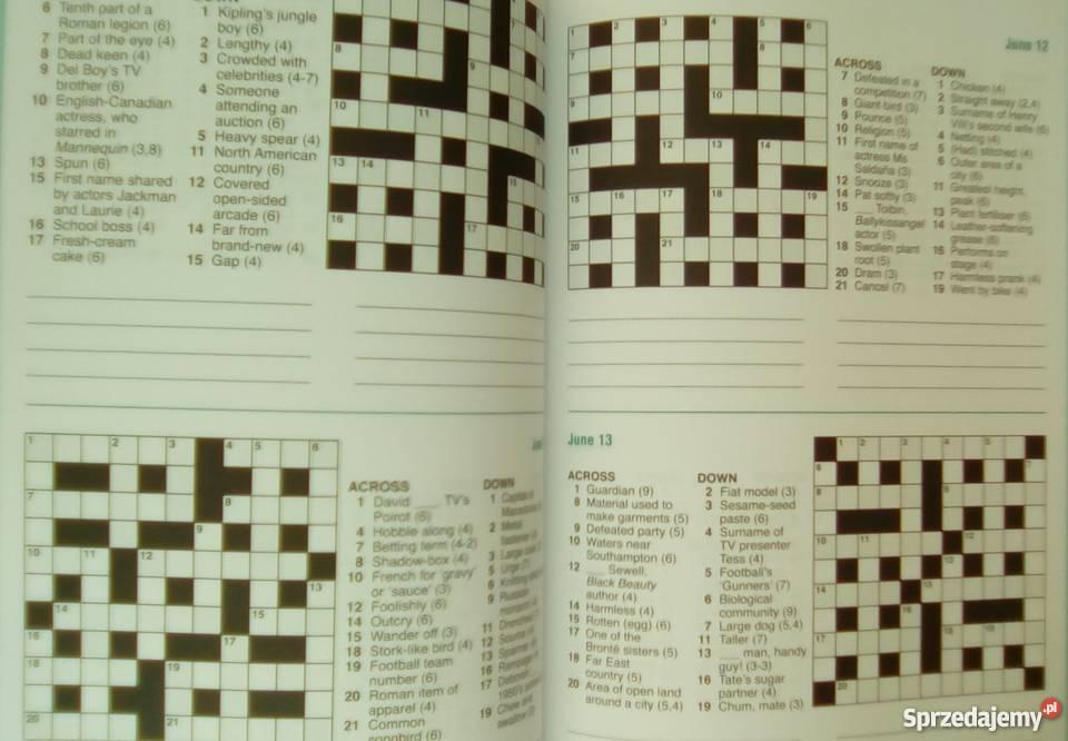 Krzyżówki angielsku A puzzle a day dla dorosłych