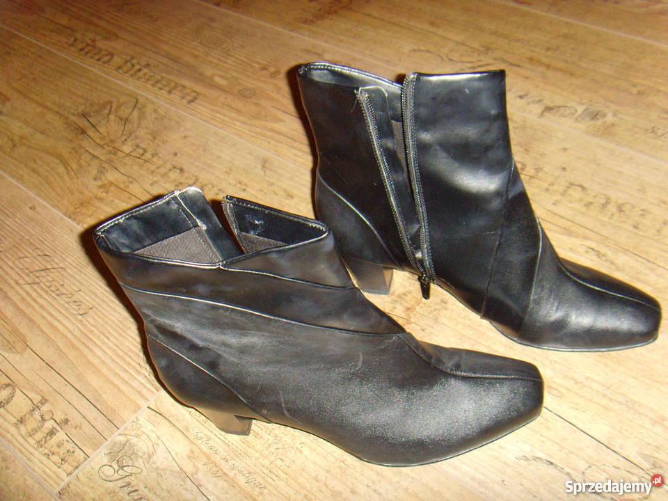 c442ab291c753 Czarne skórzane botki Clarks rozmiar 42 mazowieckie Warszawa sprzedam