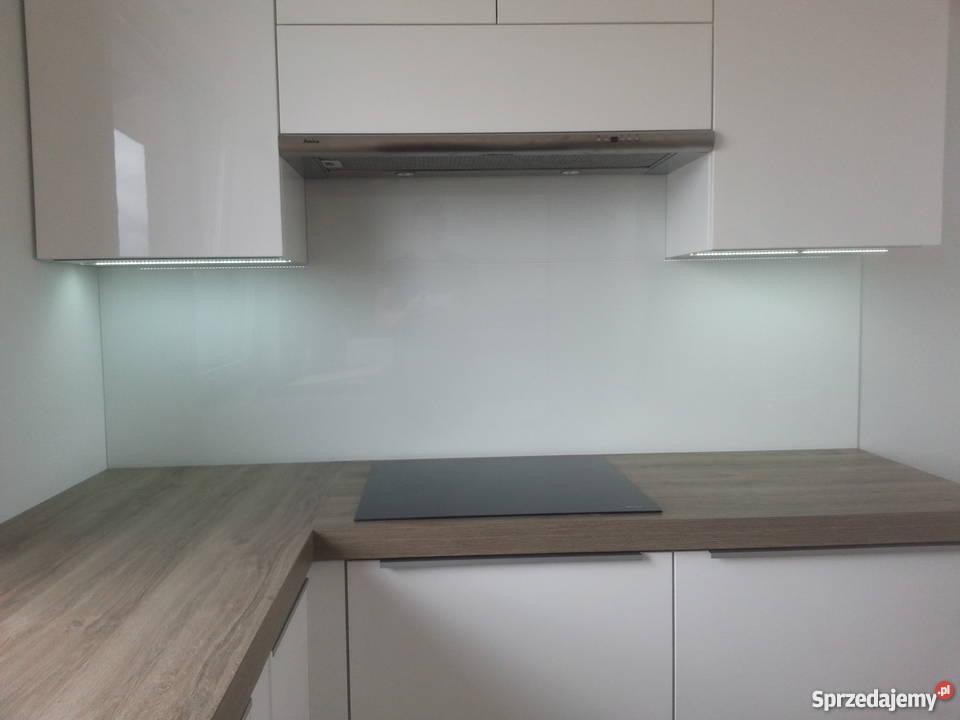 panele szklane z lacobel jednokolorowe do kuchni