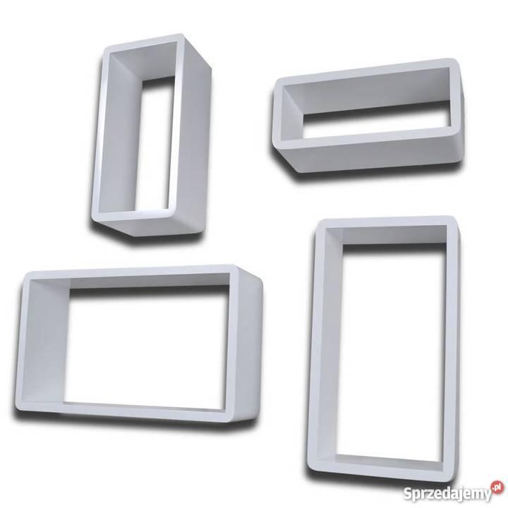 Półki Wiszące Mdf X4 Białe 240345