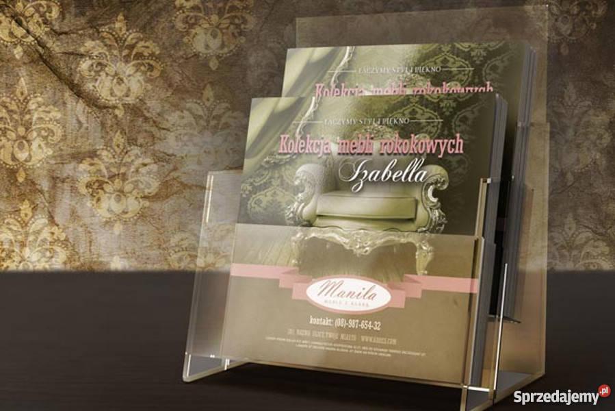 Oryginalny Projekt graficzny broszura ulotka Lublin