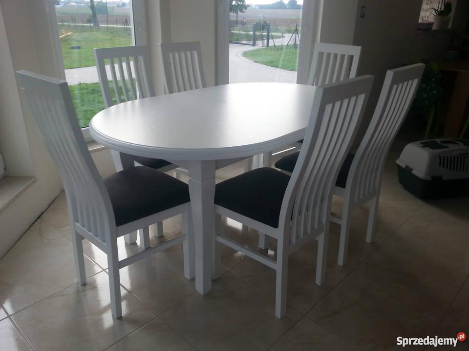 nowoczesne białe krzesła do kuchni | krzesła drewniane do