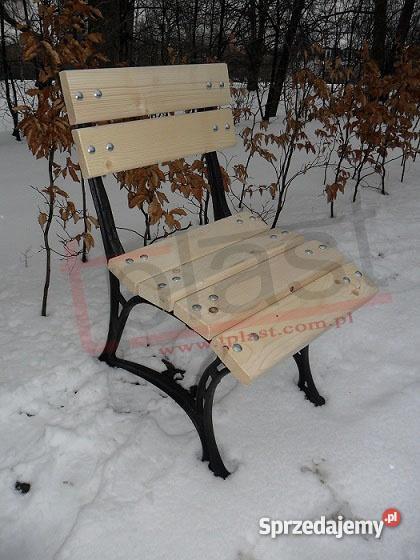 Krzesło żeliwne W3 KRÓLEWSKIE z drewnianym siedz