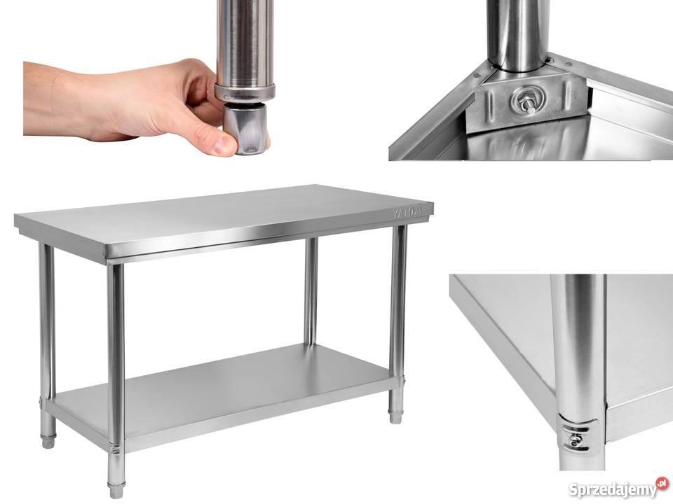 Zaktualizowano Yato blat roboczy stół ze stali nierdzewnej 150x60cm solidny PZ75