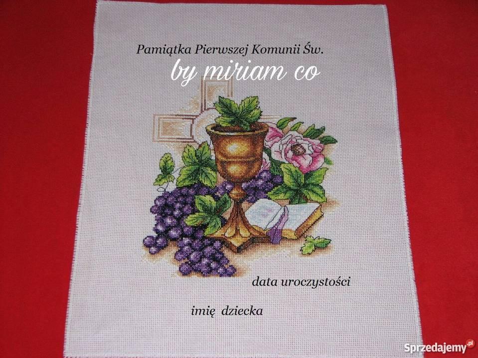 pamiątka komunia prezent haft obraz śląskie Czerwionka-Leszczyny sprzedam