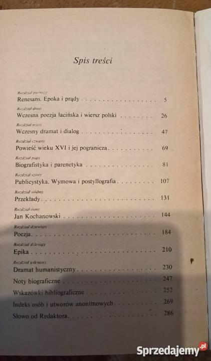 Literatura odrodzeniaJZiomek dolnośląskie Wrocław