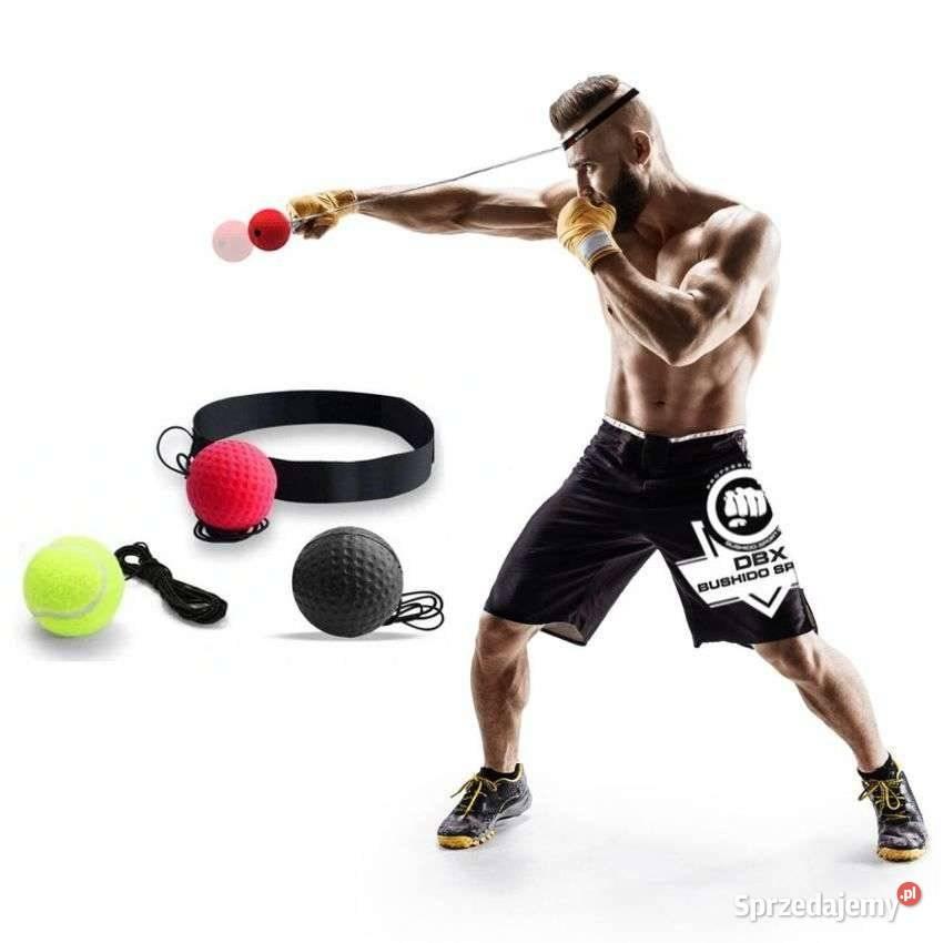 Zestaw 3 piłek - Piłeczka bokserska refleksowa na głowę