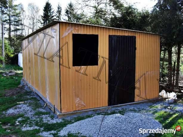 Garaż blaszany 4x6 m / Garaże / Wiaty / Magazyny / Garaz