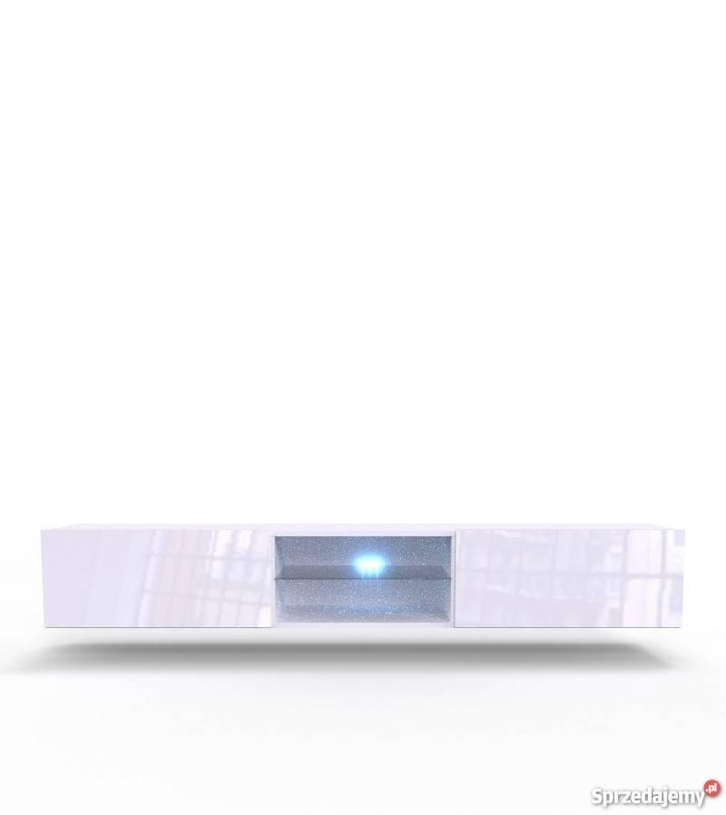 VIGO GLASS biała - szafka pod telewizor