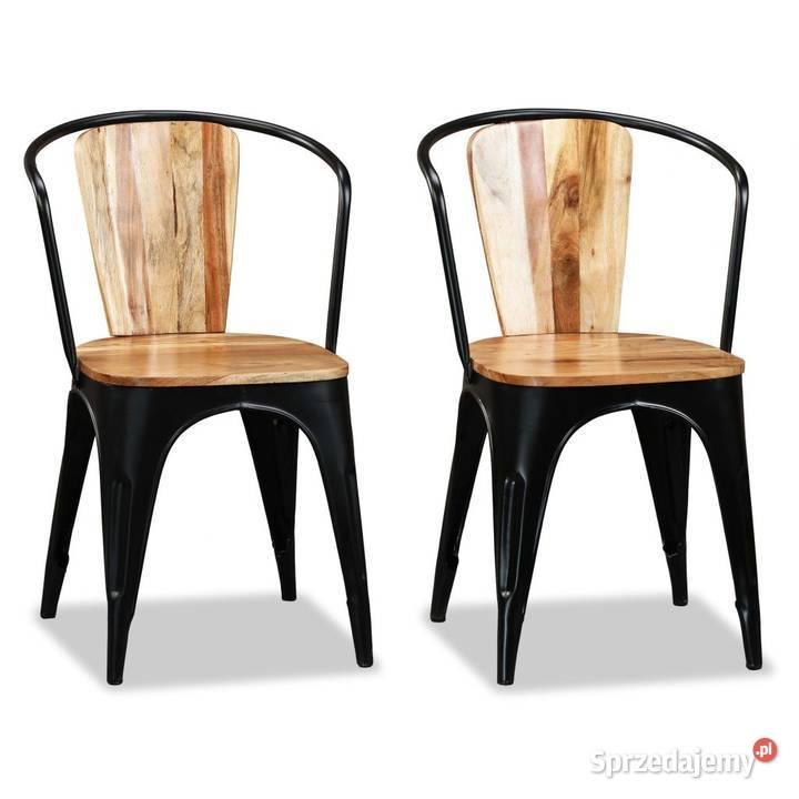 vidaXL Krzesła do jadalni, lite  244598