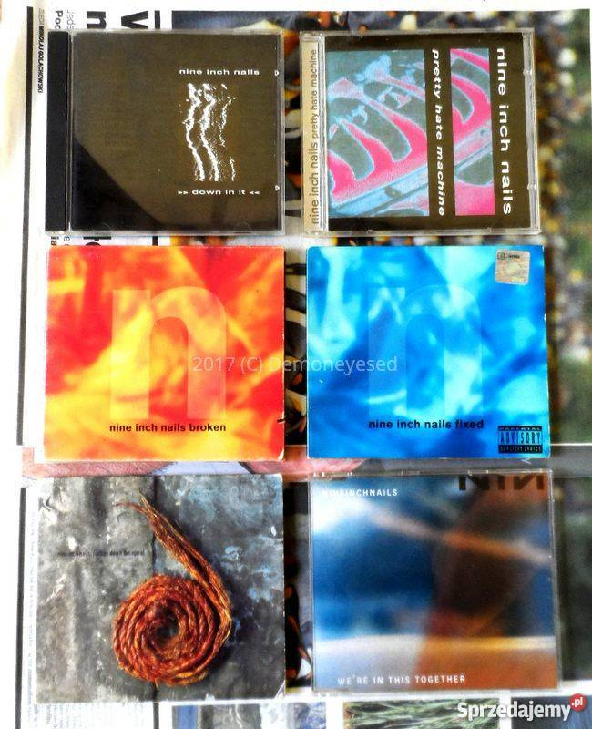 Nine Inch Nails płyty CD kalendarz stary bilet i inne Kraków ...