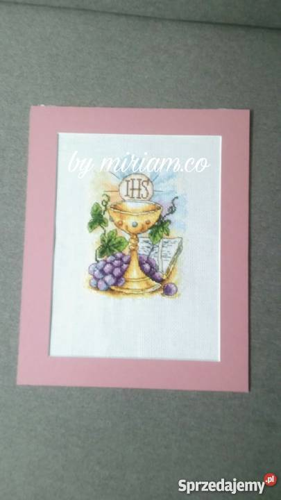 pamiątka kominii obraz haft prezent śląskie Czerwionka-Leszczyny