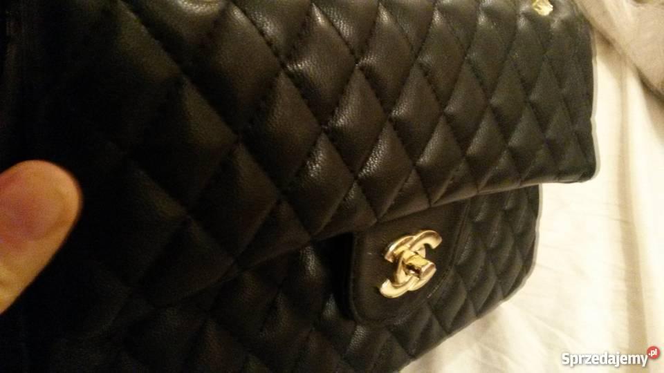 ba00d29be5498 Torebka Chanel jumbo nowa skóra żółty/złoty wielkopolskie Leszcze