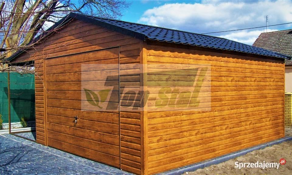 Garaż Blaszany KAŻDY WYMIAR Drewnopodobny | Akrylowy Solidny