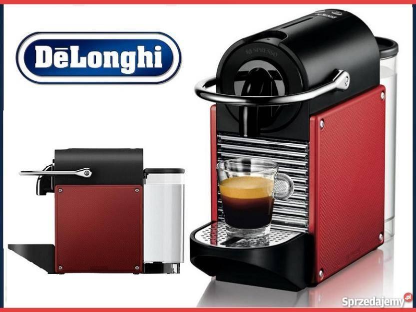 Młodzieńczy Ekspres do kawy DeLonghi EN 125.R Nespresso Pixie+ kapsułki FJ28
