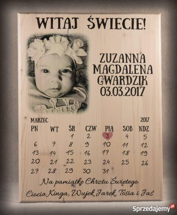 ZDJĘCIE NA DESCE A4A3 PREZENT NA CHRZEST Wałbrzych