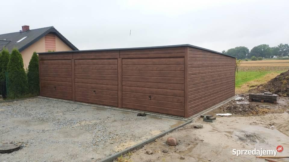 Garaż 9x6  drewnopodobny