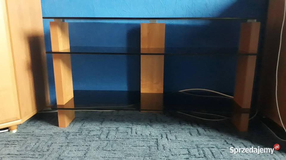 stolik RTV ze szkła przyciemnianego firmy Black Red White