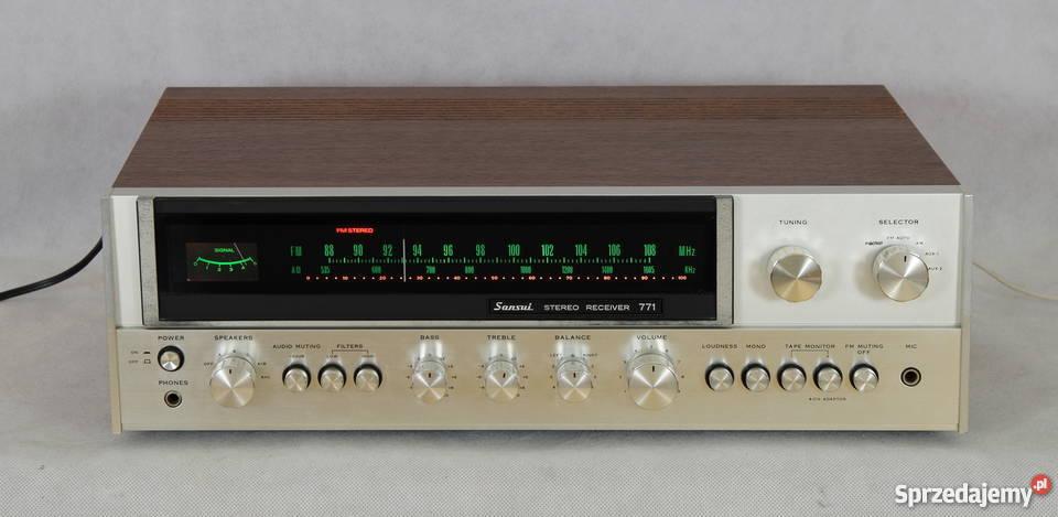 Sansui 771, super amplituner vintage w fajnym stanie SPRAWNY