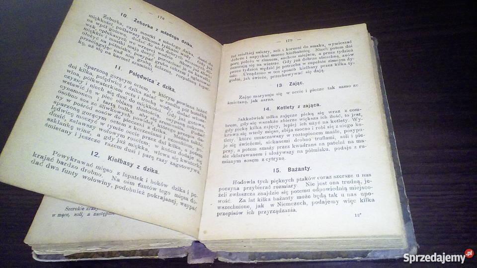 Książka kucharska z XIX wieku
