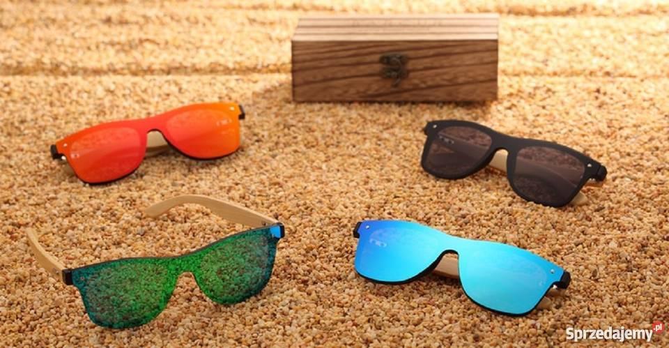 Okulary Przeciwsłoneczne HD Drewno Bambus Odbicie Lustrzanen
