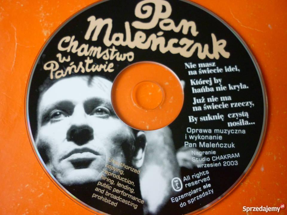 Płyta CD Pan Maleńczuk Chamstwo w Państwie Warszawa