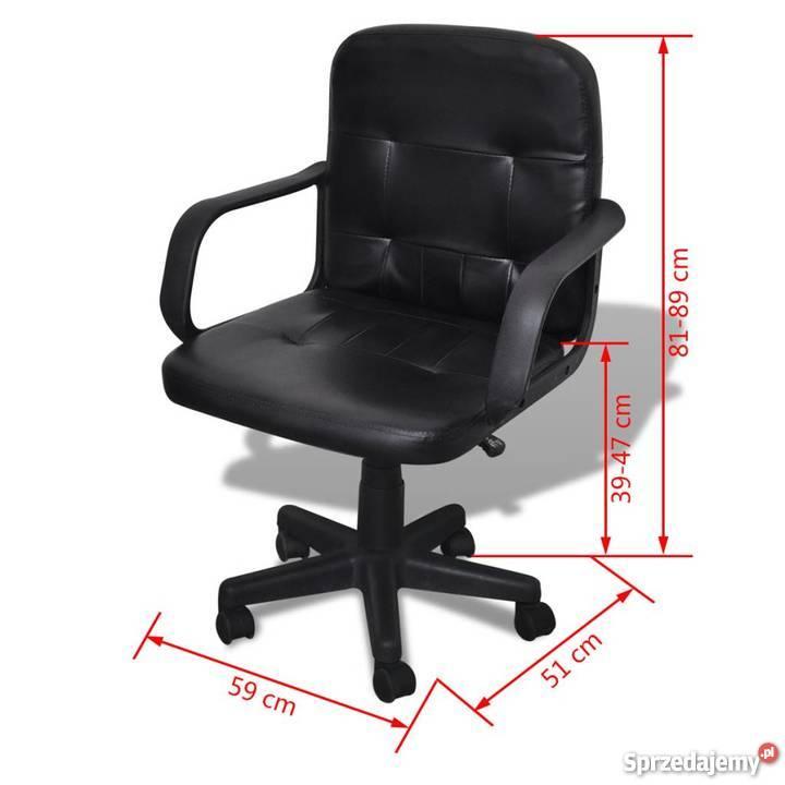 Inteligentny Fotel biurowy skórzany (59 x 51 x 81-89 cm) Czarny (20076 CU74