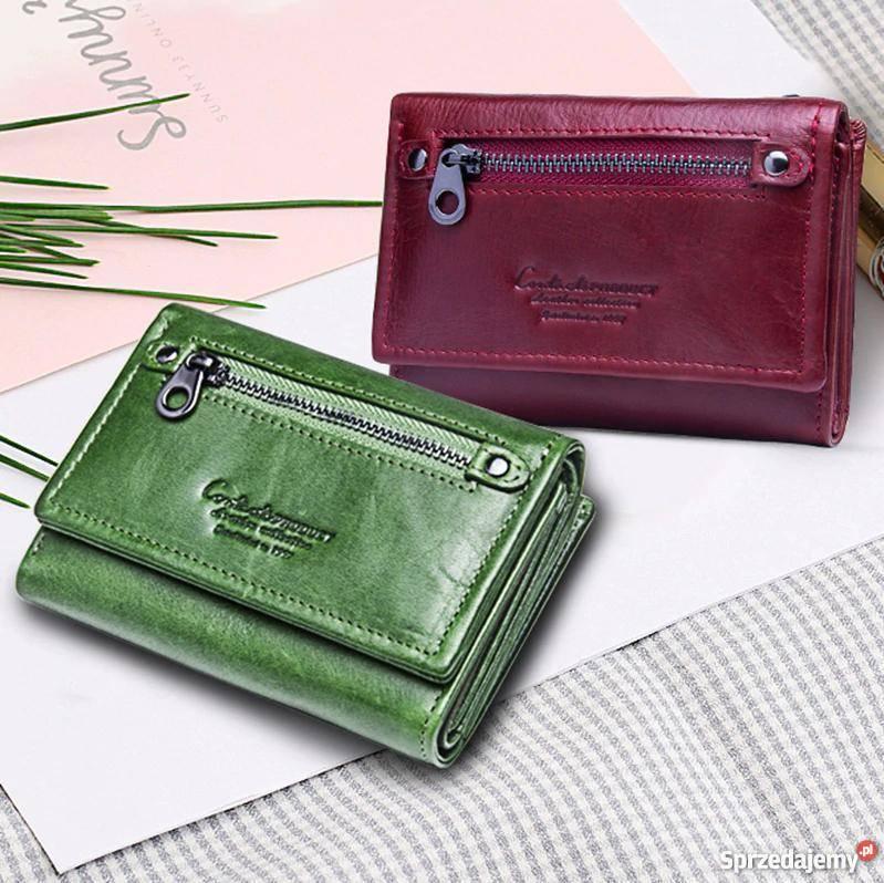 55c6c816b0323 Skórzany portfel damski ContactS skóra naturalna Dla kobiet Czeladź