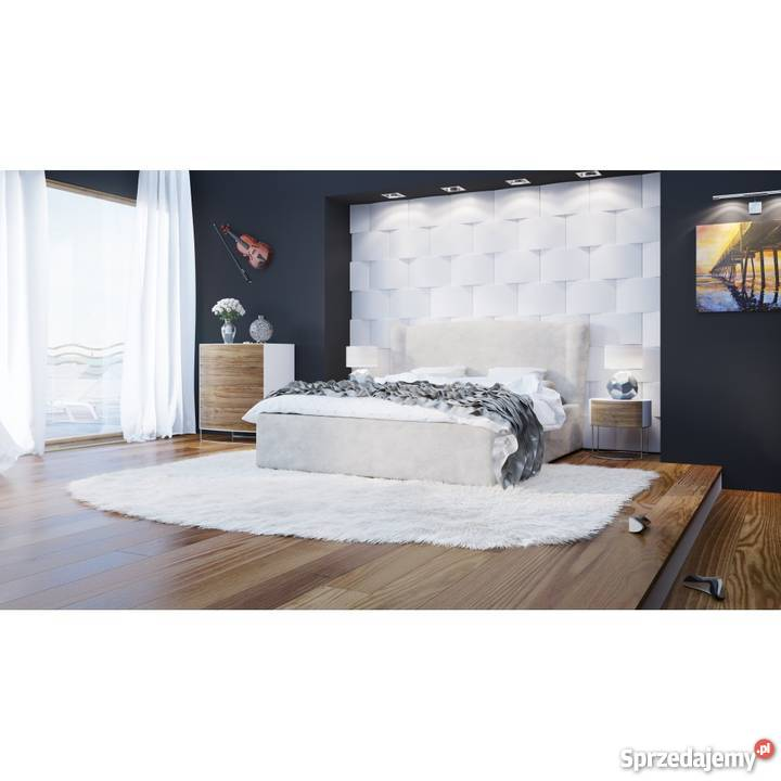 łóżko Tapicerowane Comfortbe Emporio Z Pojemnikiem 200x200